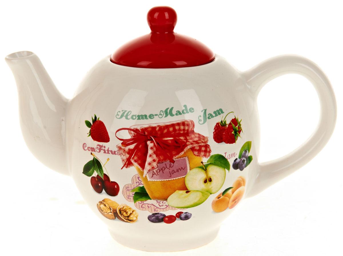 Чайник заварочный ENS Group Джем, 1,05 лL2430675Заварочный чайник Джем, изготовленный из высококачественной керамики, прекрасно впишется в интерьер вашей кухни и станет достойным дополнением к кухонному инвентарю. Изделие снабжено эргономичной крышкой и удобной ручкой. Такой чайник не только украсит ваш кухонный стол и подчеркнет прекрасный вкус хозяйки, но и станет отличным подарком. Можно мыть в посудомоечной машине.