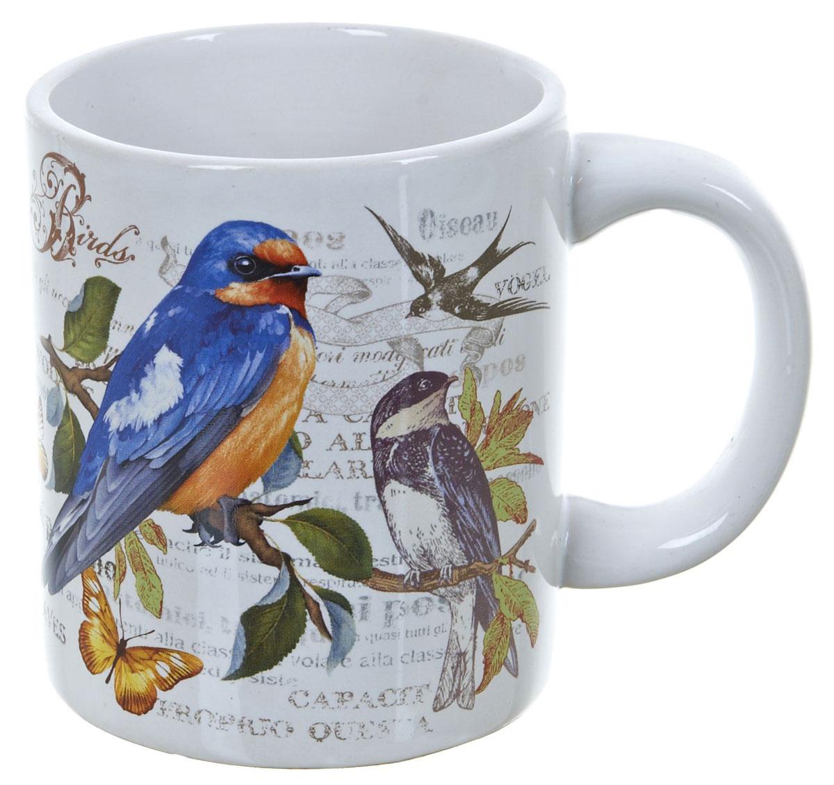 Кружка ENS Group Birds, 400 мл. L2430743115610Кружка Birds выполнена из высококачественной керамики и декорирована ярким рисунком с изображением птиц.Кружка сочетает в себе оригинальный дизайн и функциональность. Благодаря такой кружке пить напитки будет еще вкуснее. Упакована в подарочную упаковку, благодаря чему может послужить отличным подарком родным и близким!