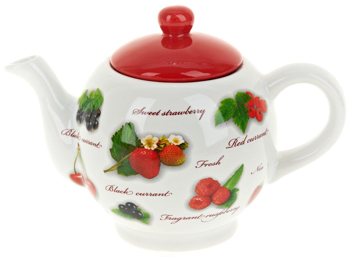 Чайник заварочный ENS Group Садовая ягода, 950 мл115510Заварочный чайник Садовая ягода, изготовленный из высококачественной керамики, прекрасно впишется в интерьер вашей кухни и станет достойным дополнением к кухонному инвентарю. Изделие снабжено эргономичной крышкой и удобной ручкой. Такой чайник не только украсит ваш кухонный стол и подчеркнет прекрасный вкус хозяйки, но и станет отличным подарком.Можно мыть в посудомоечной машине.