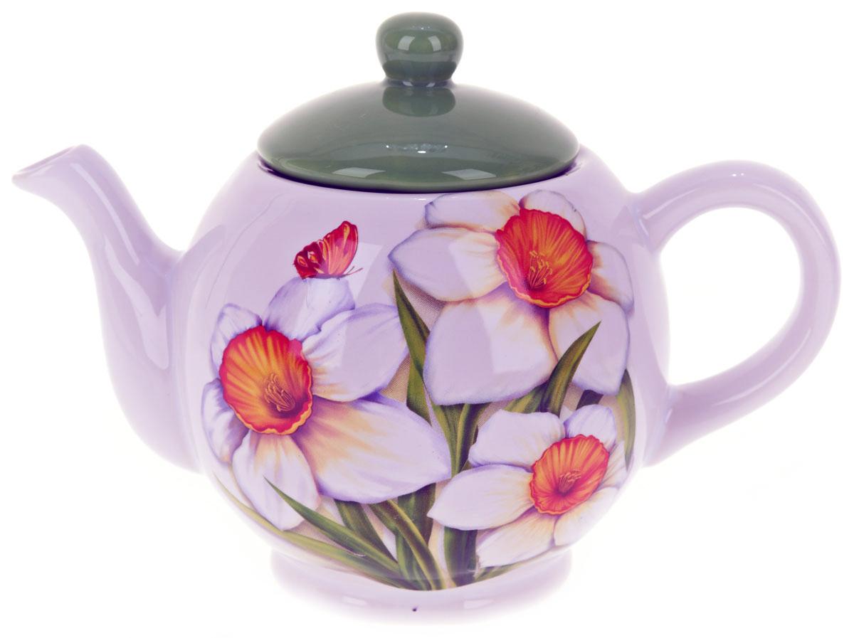 Чайник заварочный ENS Group Нарцисс, 1,1 лL2520301Заварочный чайник Нарцисс, изготовленный из высококачественной керамики, прекрасно впишется в интерьер вашей кухни и станет достойным дополнением к кухонному инвентарю. Изделие снабжено эргономичной крышкой и удобной ручкой. Такой чайник не только украсит ваш кухонный стол и подчеркнет прекрасный вкус хозяйки, но и станет отличным подарком. Можно мыть в посудомоечной машине.