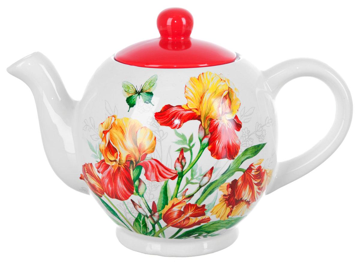 Чайник ENS Group Касатик, 1100 мл. L2520654L2520654Заварочный чайник Касатик, изготовленный из высококачественной керамики, прекрасно впишется в интерьер вашей кухни и станет достойным дополнением к кухонному инвентарю. Изделие снабжено эргономичной крышкой и удобной ручкой. Такой чайник не только украсит ваш кухонный стол и подчеркнет прекрасный вкус хозяйки, но и станет отличным подарком