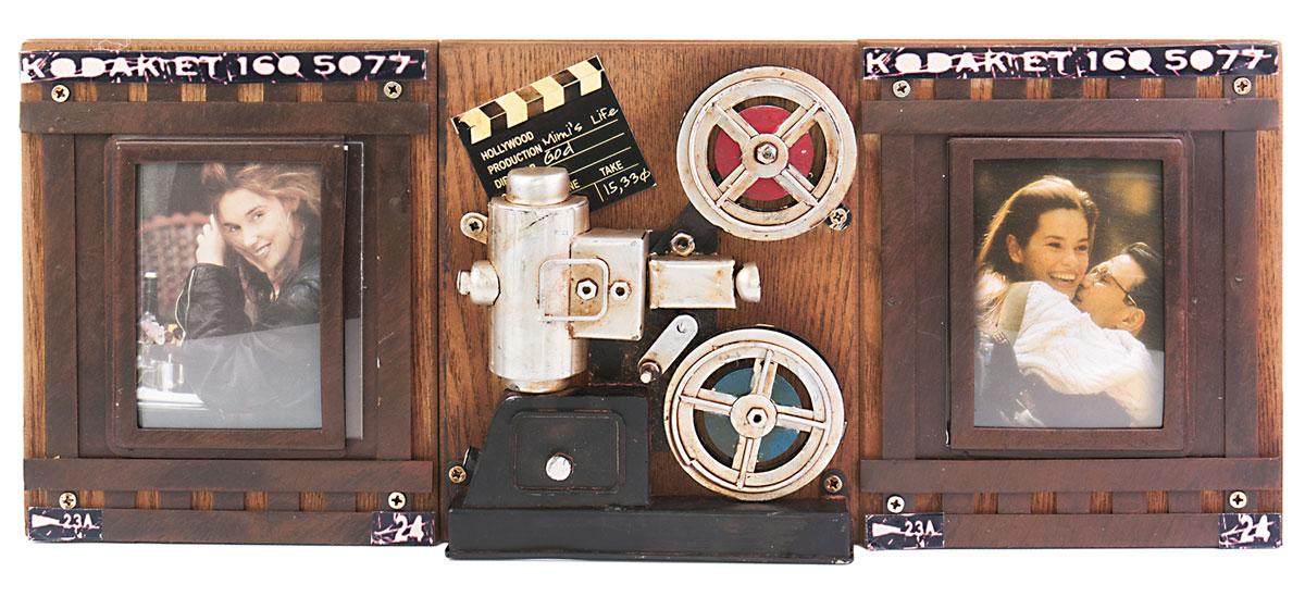 Фоторамка двойная Platinum Кинопроектор Kodak, цвет: коричневый. 1410F-2511410F-251