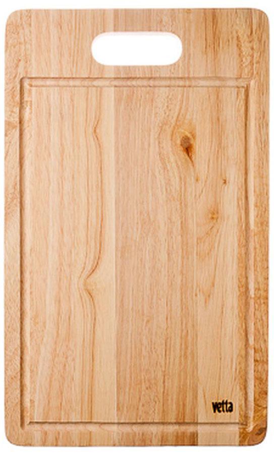 Доска разделочная Vetta, 26 х 43 см94672Разделочная доска Vetta, изготовленная из дерева, прекрасно подходит для разделки и измельчения всех видов продуктов.