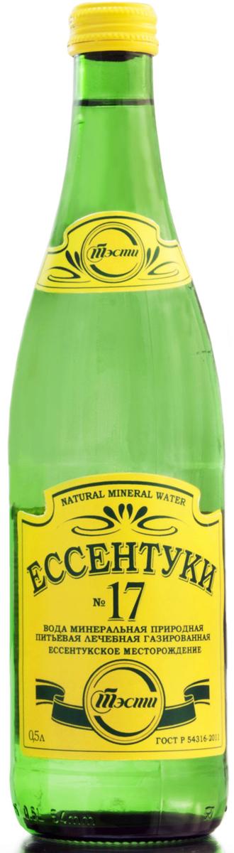 Ессентуки №17 вода минеральная природная лечебно-столовая, 0,5 л 0075000007112