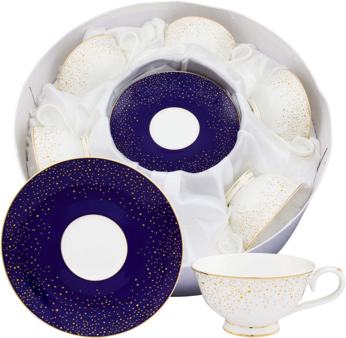 Чайный набор Elan Gallery День и ночь, 220 мл, 12 предметов115610Чайный набор нежных тонах на 6 персон украсит Ваше чаепитие. В комплекте 6 чашек на ножке объемом 220 мл, 6 блюдец. Изделие имеет подарочную упаковку, поэтому станет желанным подарком для Ваших близких! Не рекомендуется применять абразивные моющие средства. Не использовать в микроволновой печи.