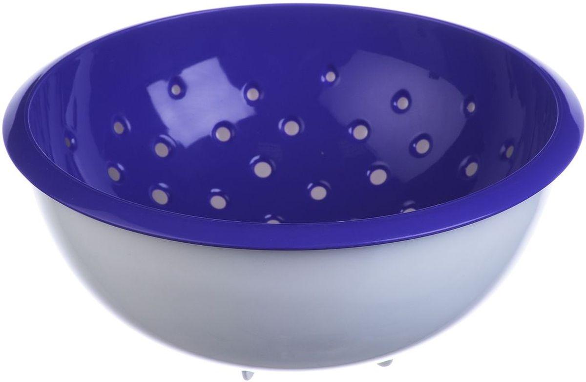 Дуршлаг Idea, с миской, цвет: фиолетовый, 2 лМ 1134Дуршлаг Idea, изготовленный из пищевого полипропилена, станет полезным приобретением для вашей кухни. Он идеально подходит для процеживания, ополаскивания овощей и фруктов и стекания жидкости. Дуршлаг оснащен устойчивым основанием и миской. Дуршлаг Idea станет незаменимым атрибутом на кухне каждой хозяйки. Диаметр дуршлага (по верхнему краю): 22,5 см. Высота стенок: 9,5 см.