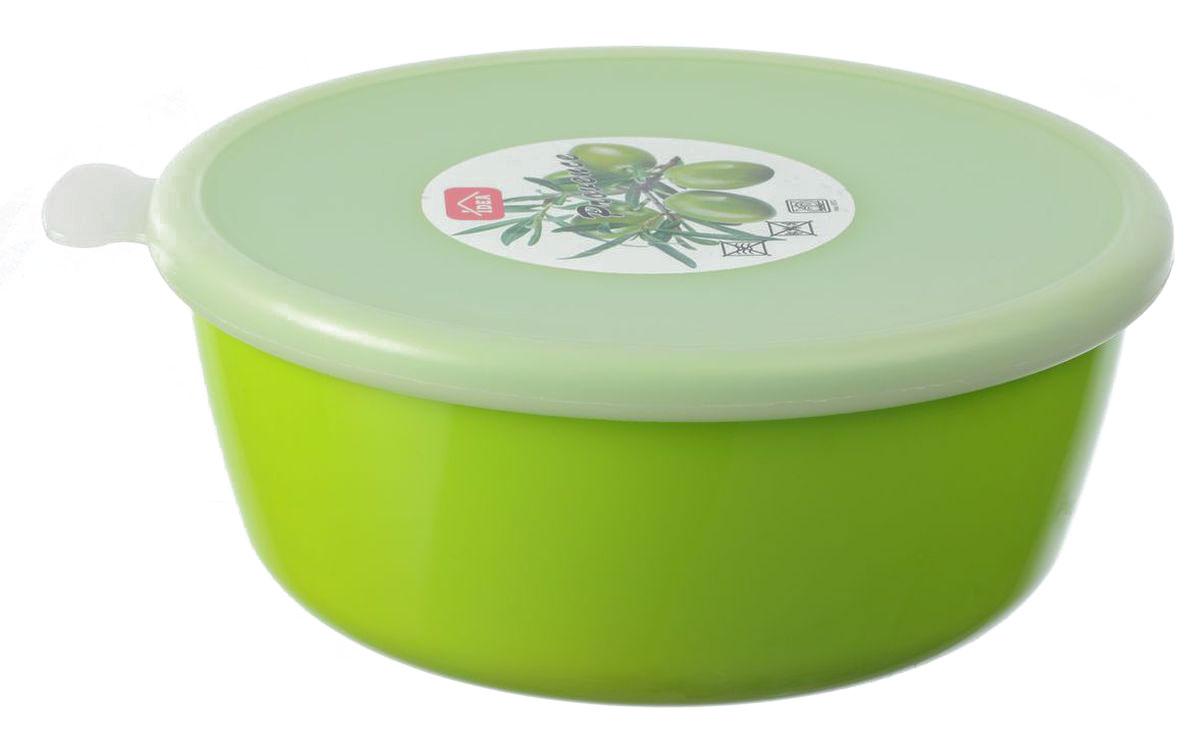 Миска Idea Прованс, с крышкой, цвет: салатовый, 1 лМ 1381