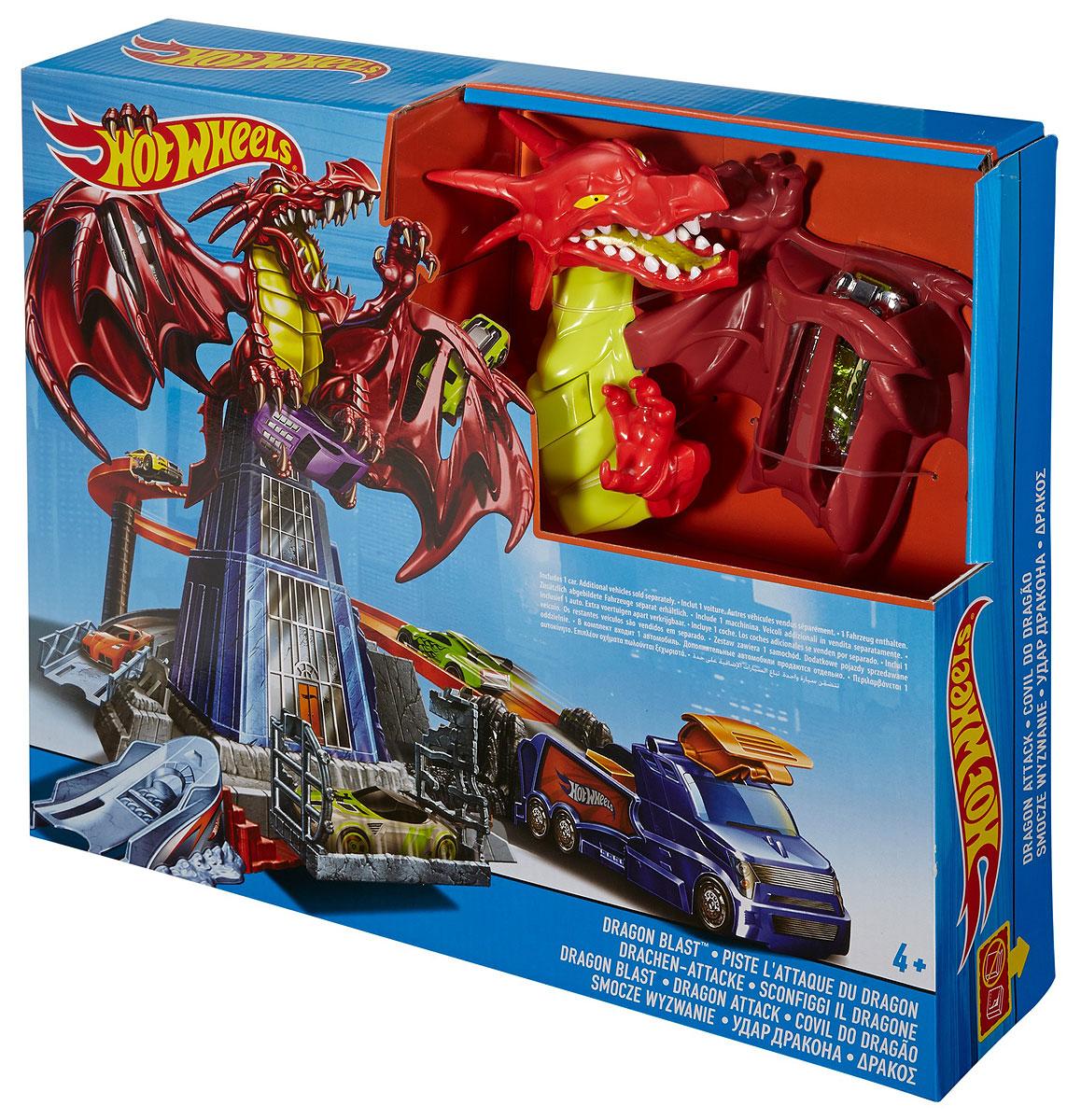 Hot Wheels Игрушечный трек Удар дракона DWL04