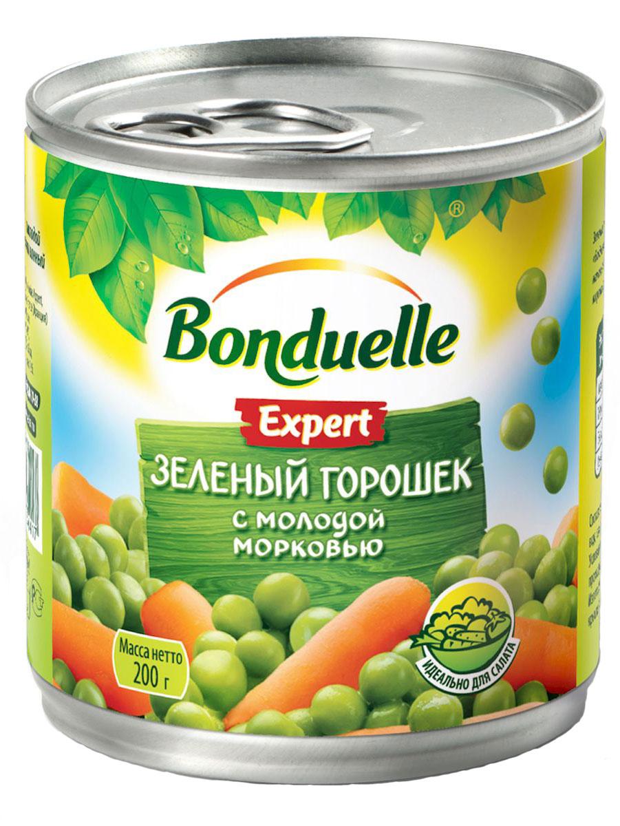 Bonduelle зеленый горошек с молодой морковью, 200 г 930