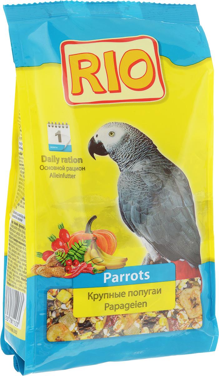 Корм для крупных попугаев Rio, 500 г13969Корм Rio - полнорационное питание для крупных попугаев. Тщательно сбалансированная зерновая смесь для ежедневного кормления обеспечит птицу всеми необходимыми питательными веществами. Содержит воздушные зерна, сушеные фрукты и овощи, редкие плоды и ягоды. Товар сертифицирован.