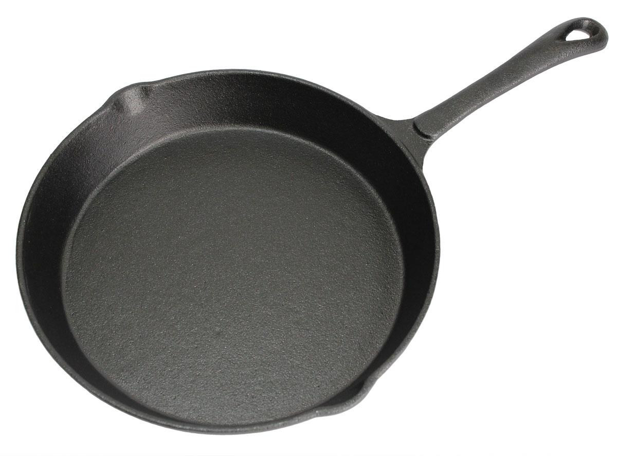 Сковорода Vetta, с 2 сливами, диаметр 20 см808002Сковорода Vetta изготовлена из чугуна. Высокая теплоемкость чугуна позволяет ему сильно нагреваться и медленно остывать, а это в свою очередь обеспечивает равномерное приготовление продуктов. Пища, приготовленная в чугунной посуде, сохраняет свои вкусовые качества, и благодаря экологической чистоте материала, не может нанести вред здоровью человека. Также чугунная сковорода обладает высокой прочностью и износоустойчивостью. Для более удобного использования сковорода оснащена эргономичной ручкой. Сковорода Vetta подходит для использования: в духовке, на газовой, галогеновой плитах. Не рекомендуется мыть в посудомоечной машине.