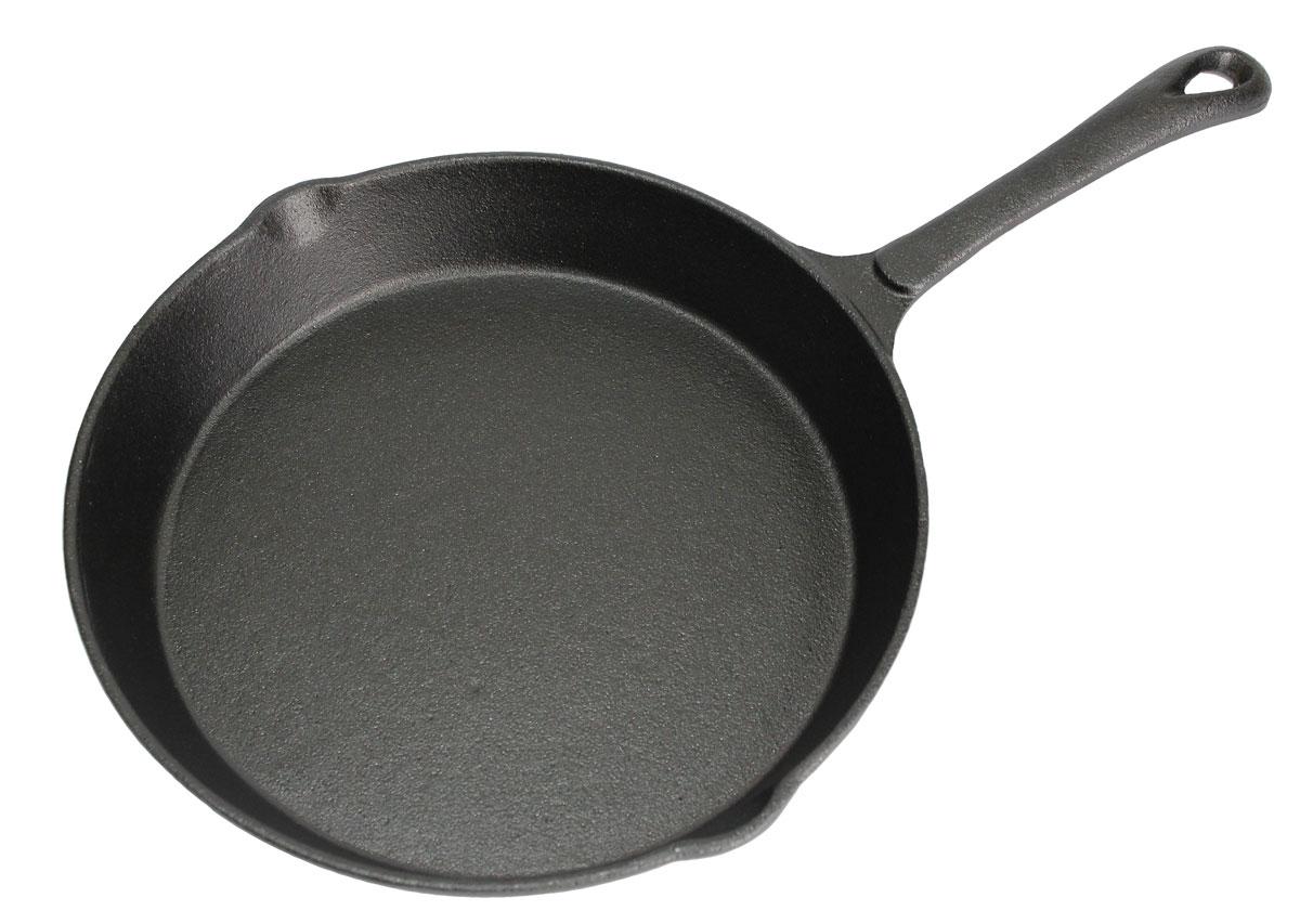 Сковорода чугунная Vetta. Диаметр 25 смFS-91909Сковорода Vetta изготовлена из чугуна. Высокая теплоемкость чугуна позволяет ему сильно нагреваться и медленно остывать, а это в свою очередь обеспечивает равномерное приготовление продуктов. Пища, приготовленная в чугунной посуде, сохраняет свои вкусовые качества, и благодаря экологической чистоте материала, не может нанести вред здоровью человека. Также чугунная сковорода обладает высокой прочностью и износоустойчивостью. Для более удобного использования сковорода оснащена эргономичной ручкой и двумя носиками для слива. Сковорода Vetta подходит для использования: в духовке, на газовой, галогеновой плитах. Не рекомендуется мыть в посудомоечной машине.