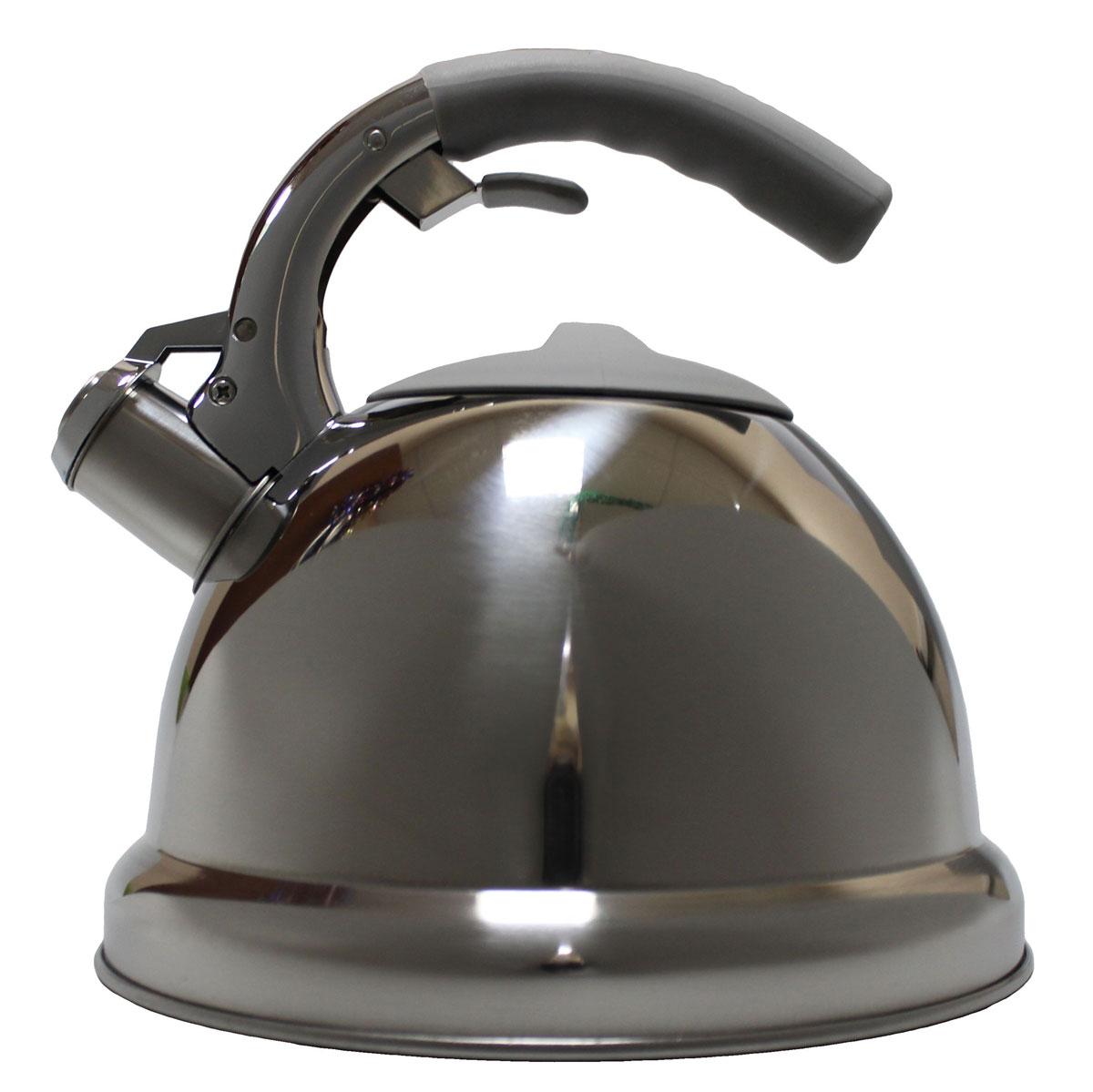 Чайник Vetta Вена, со свистком, 3 л94672Зеркальный чайник, объемом 3,0 л. Изготовлен из нержавеющей стали. Имеет свисток, который сообщит о закипании воды. Отлично подходит для индукционных варочных поверхностей.