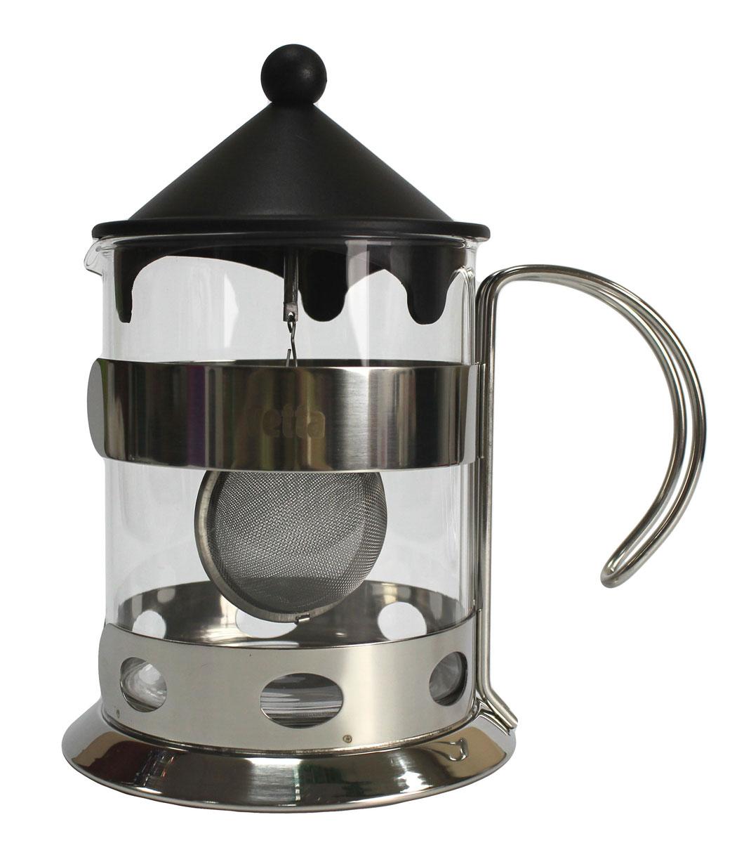 Чайник Vetta, 1,2 л850132Заварочный чайник из нержавеющей стали, стекла и силикона, объемом 1200 мл. Легкий, прочный. Хорошо впишется в любой интерьер. Удобный в применении.