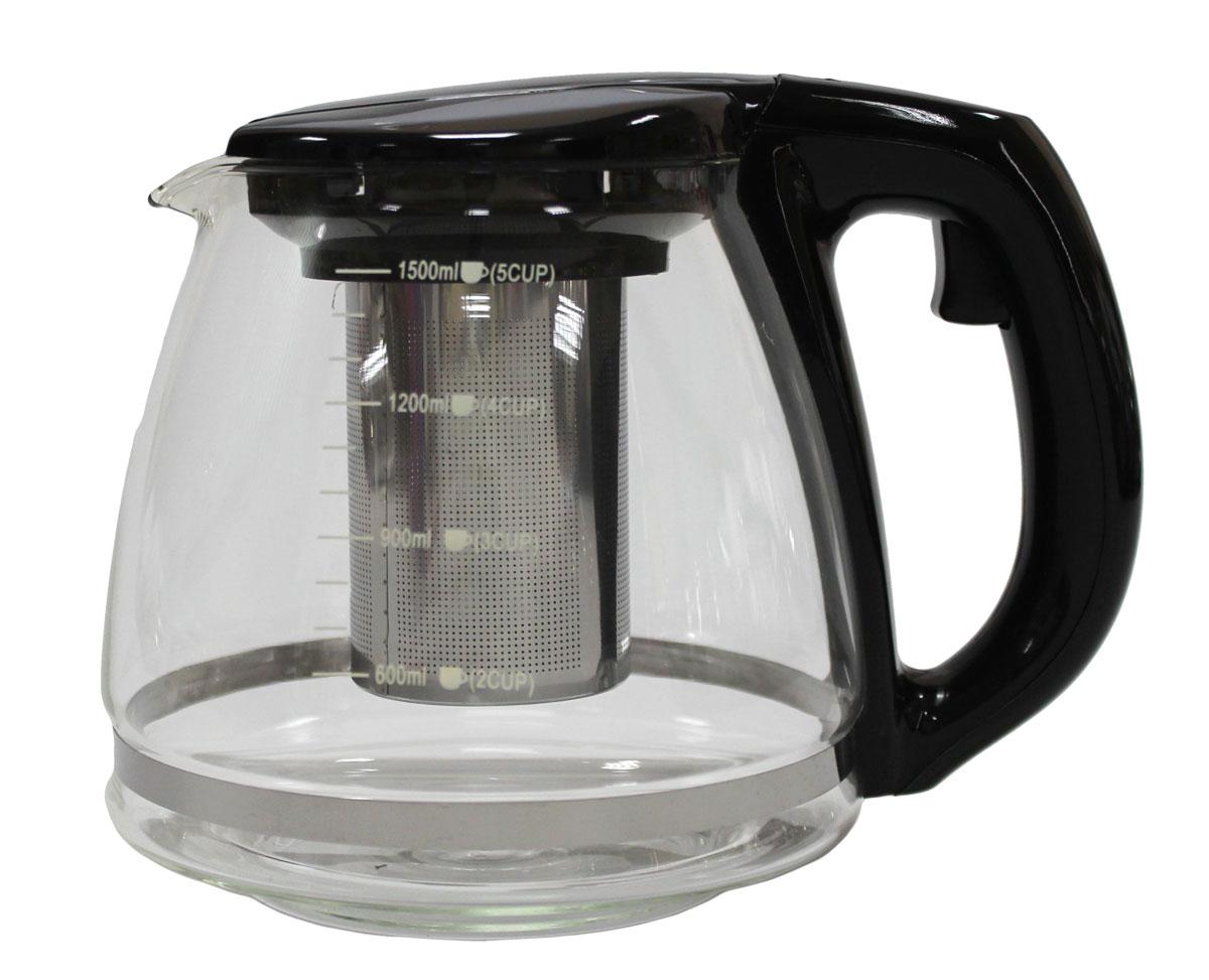 Чайник заварочный Vetta, 1,5 л94672Заварочный чайник Vetta, изготовленный из термостойкого стекла и полипропилена, предоставит вам все необходимые возможности для успешного заваривания чая. Чай в таком чайнике дольше остается горячим, а полезные и ароматические вещества полностью сохраняются в напитке. Чайник оснащен фильтром, который выполнен из нержавеющей стали. Простой и удобный чайник поможет вам приготовить крепкий, ароматный чай.