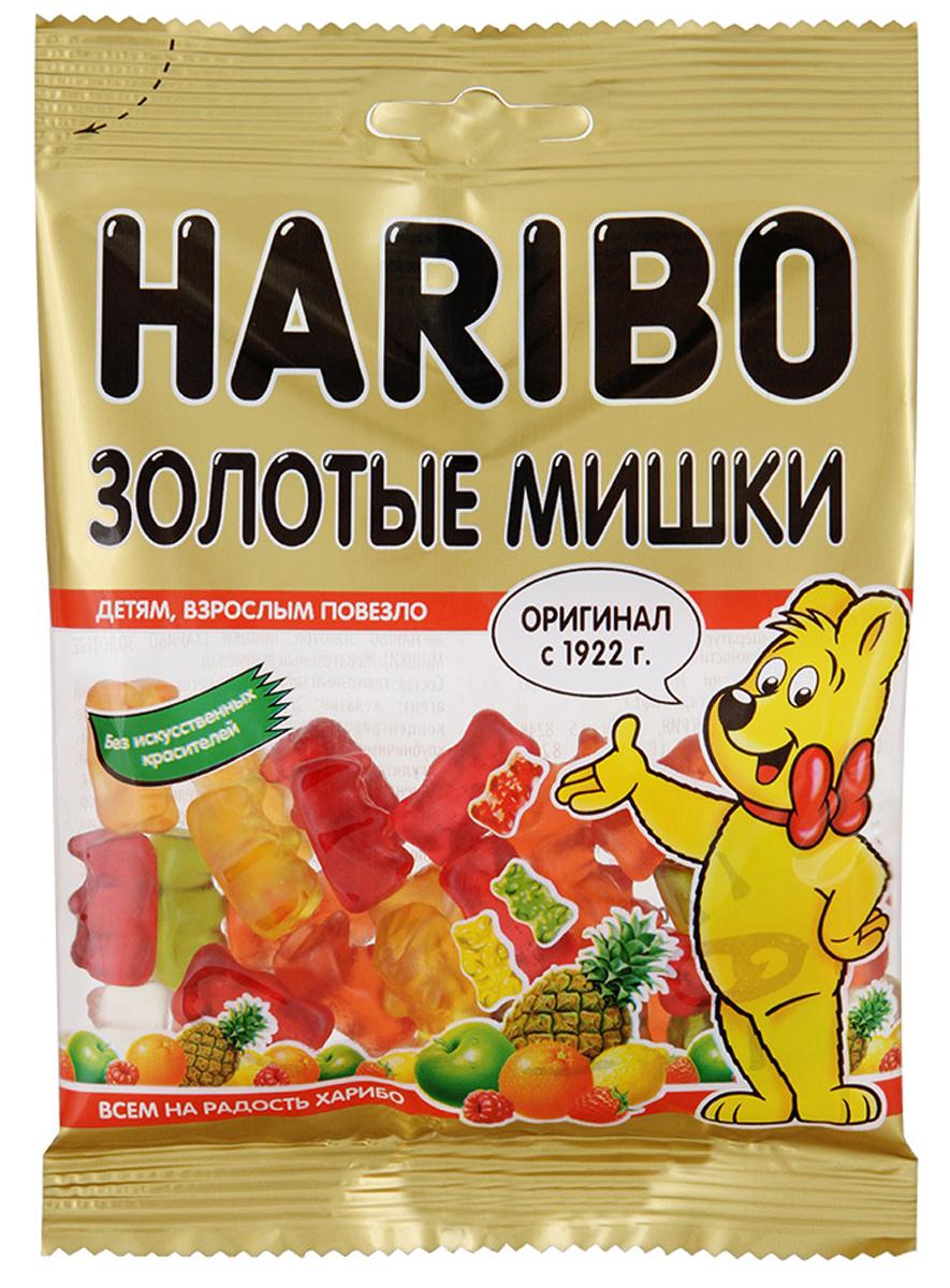 Haribo Золотые мишки жевательный мармелад, 70 г0120710Золотые мишки Haribo - мармелад №1! Основатель категории жевательного мармелада в России! Его знают и любят во всем мире! На протяжении 90 лет Золотые мишки от Haribo - это эталон фруктового жевательного мармелада!Золотые мишки - это лучший друг внимательной и заботливой мамы, которая любит угощать своего ребенка легкими и фруктовыми сладостями!Жевательный мармелад со вкусом клубники, лимона, малины, апельсина, ананаса и яблока никого не оставит равнодушным!Уважаемые клиенты! Обращаем ваше внимание, что полный перечень состава продукта представлен на дополнительном изображении.