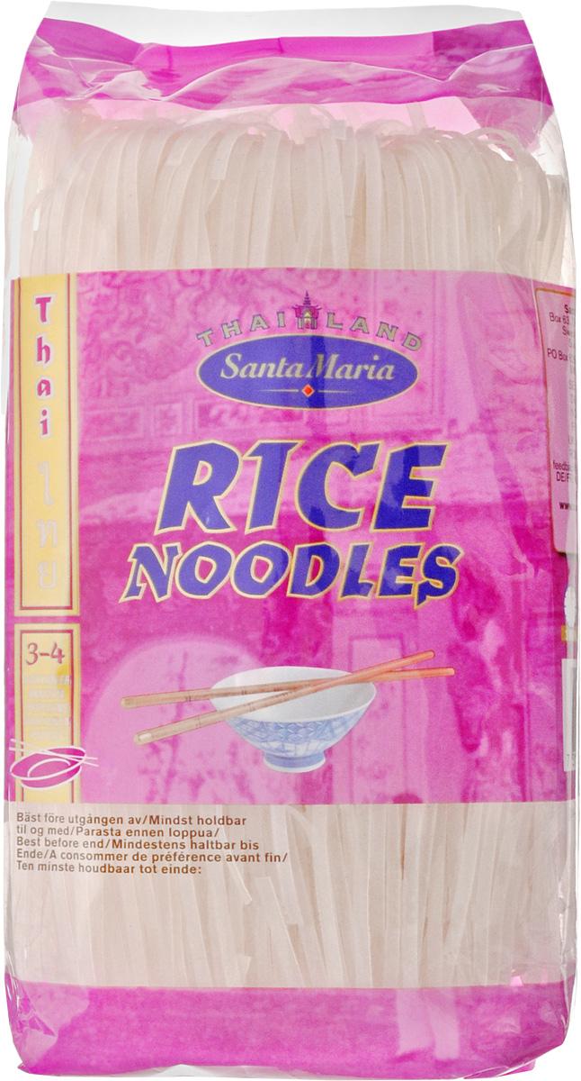 Santa Maria Рисовая вермишель, 250 г0120710Вермишель из рисовой муки Santa Maria содержит гораздо меньше крахмала, чем пшеничная. В процессе приготовления лапша белеет, а во время тушения на сковороде с другими компонентами приобретает вкус основного продукта.Рисовая вермишель готовится с овощами, мясом, курицей, креветками, а также входит в состав салатов, супов и горячих блюд.