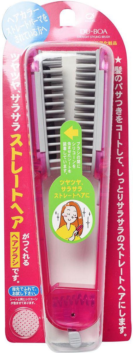 Ikemoto Щетка для выпрямления волос, цвет: розовыйMP59.4DС помощью щетки для выпрямления волос Вы сможете сделать укладку, не выходя из дома. Щётка имеет пластины, в состав которых входит силикон, который создает защитную пленку на волосах, склеивает расщепленные секущиеся кончики, облегчают расчесывание и укладку, придает волосам гладкость и привлекательный блеск.Расчешите влажные волосы, отделите тонкую прядь волос и вытяните ее от корней до кончиков, пропуская между пластинами щетки, одновременно высушивая феном. Повторите для остальных прядей. Во время сушки тёплый воздух, проходя через вентиляционные отверстия в центре щетки, улучшит выпрямление. Волосы быстрее высыхают, не повреждаются при прижимании пластин и становятся гладкими и прямыми. Внимание при применении: Не используйте при повреждениях кожи головы. При появлении каких-либо реакций на коже головы прекратите применение и обратитесь к врачу-дерматологу. Не используйте в других целях. При длительном непосредственном воздействии на щётку высоких температур во время сушки, а также при загрязнении спиртовыми укладочными средствами есть риск изменения формы и повреждения щётки. *Обычная сушка не влияет на пропитанные пластины. Силиконовые пластины не снимаются, поэтому при загрязнении промойте щетку без использования моющих средств, удалите влагу и просушите в тени.основа щетки – AS/полиэстеровая смола; пружина – железо, зубчики – полиэстеровая смола (максимально допустимая тем- пература – 80°С), стержень – уретановая смола (пропитка пластин – 1,6 мл). Состав компонентов в пластинах: высокомолекулярный метилполисилоксан, метилполисилоксан, диметил параамино бензоат 2-этилгексил, краситель фиолетовый-201.