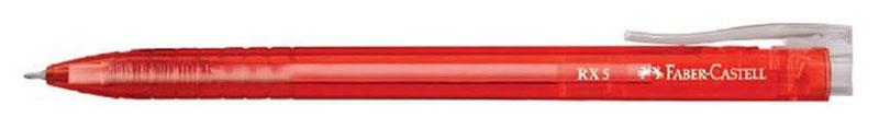 Faber-Castell Ручка шариковая RX-5 цвет корпуса красный72523WDШариковая ручка Faber-Castell RX-5 имеет эргономичную трехгранную форму, качественный нажимной механизм и тонкий наконечник. Чернила пониженной вязкости соответствуют цвету корпуса. Корпус дополнен упругим клипом.
