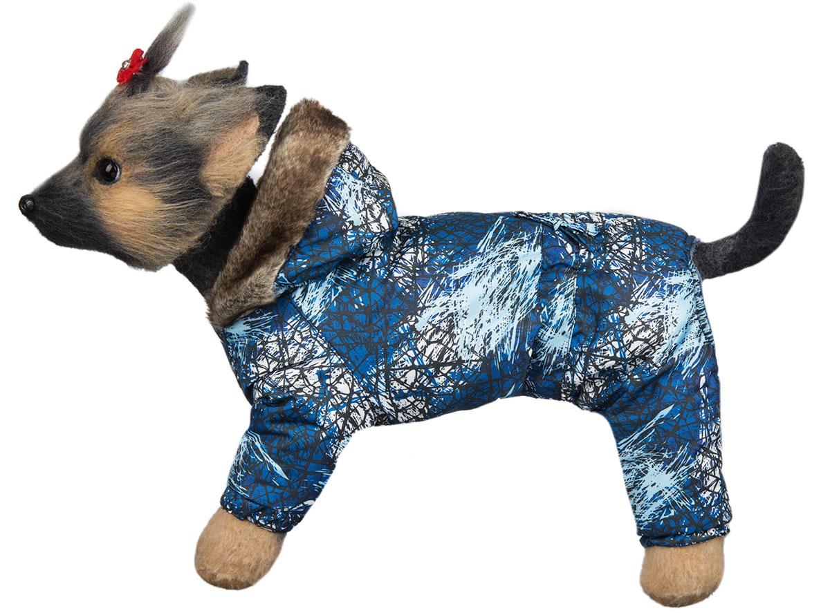 Комбинезон для собак Dogmoda Winter, зимний, для мальчика, цвет: синий, белый. Размер 3 (L)DM-150336-3Зимний комбинезон для собак Dogmoda Winter отлично подойдет для прогулок в зимнее время года. Комбинезон изготовлен из полиэстера, защищающего от ветра и снега, с утеплителем из синтепона, который сохранит тепло даже в сильные морозы, а на подкладке используется искусственный мех, который обеспечивает отличный воздухообмен. Комбинезон с капюшоном застегивается на кнопки, благодаря чему его легко надевать и снимать. Капюшон украшен искусственным мехом и не отстегивается. Низ рукавов и брючин оснащен внутренними резинками, которые мягко обхватывают лапки, не позволяя просачиваться холодному воздуху. На пояснице комбинезон затягивается на шнурок-кулиску. Благодаря такому комбинезону простуда не грозит вашему питомцу.