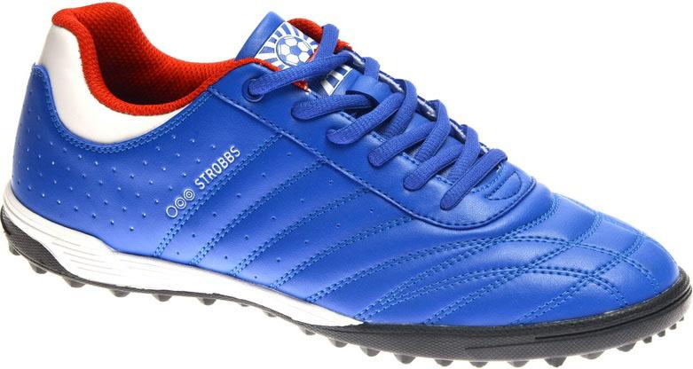Бутсы мужские Strobbs, цвет: синий. C2436-22. Размер 40C2283-2Бутсы мужские Strobbs изготовлены из искусственной кожи. Внутренняя поверхность из текстиля обеспечивает комфорт во время движения. Шипованная резиновая подошва гарантирует отличное сцепление с поверхностью. Модель подходит для грунта и искусственного газона, а также для игр на жестких синтетических поверхностях. Шнуровка надежно фиксирует модель на ноге. Уважаемые клиенты! Обращаем ваше внимание, что модель маломерит на 1 размер. Учитывайте это при выборе размера.