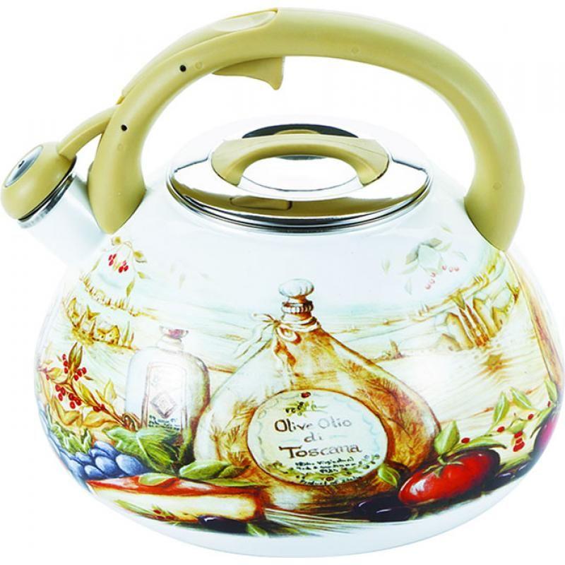 Чайник эмалированный Wellberg, со свистком, 3 л3445 WBЧайник эмалированный Wellberg, со свистком, 3 л