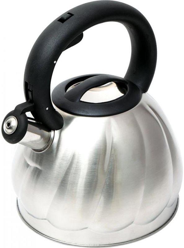 Чайник металлический Wellberg со свистком, 2,7 л. 6223 WB6223 WBЧайник металлический Wellberg со свистком, 2,7 л. 6223 WB