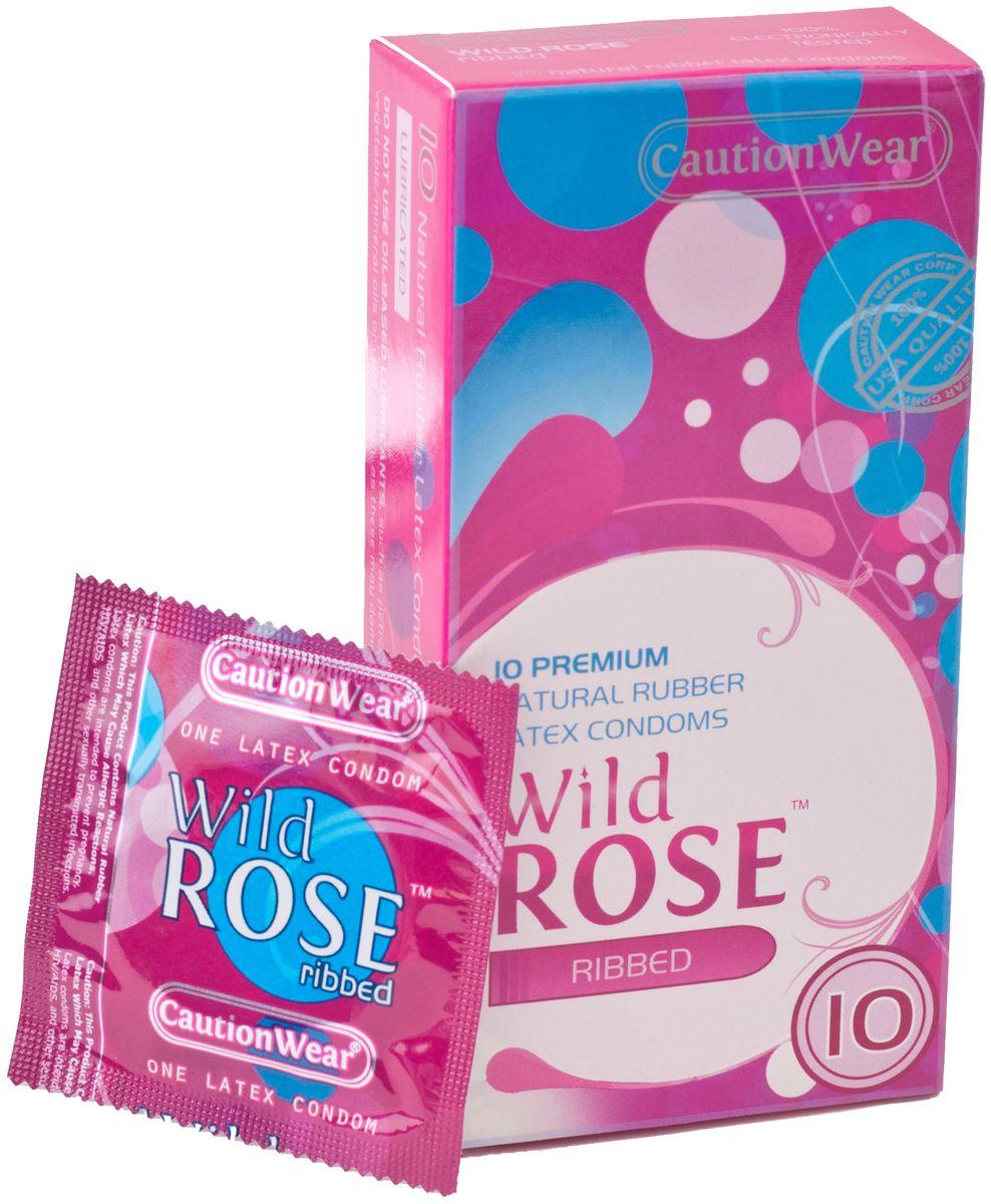 CautionWear Wild Rose Презервативы Премиум, рифленные, с натуральным лубрикатом, 10 штCWR10Рифленные презервативы ПРЕМИУМ класса латексные с натуральным лубрикатом, натуральной расцветки,параллельносторонние, с наконечником водохранилища, 10 штук
