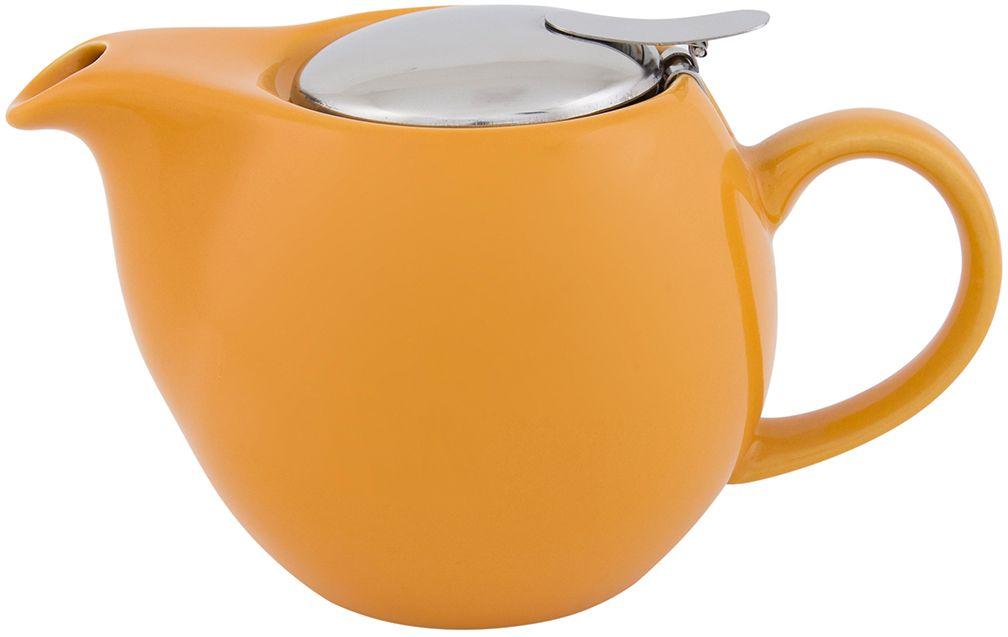 Чайник Elan Gallery, с крышкой и ситом, цвет: персиковый, 550 мл630002Яркая керамическая посуда создаст прекрасное настроение, удобна и безопасна в использовании. Размер 17,5х11,5х10 см Объем 550 мл