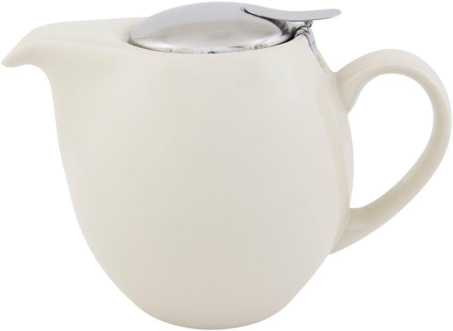 Чайник Elan Gallery, с крышкой и ситом, цвет: ванильный, 850 мл630011Яркая керамическая посуда создаст прекрасное настроение, удобна и безопасна в использовании. Размер 18,5х11,5х13 см Объем 850 мл