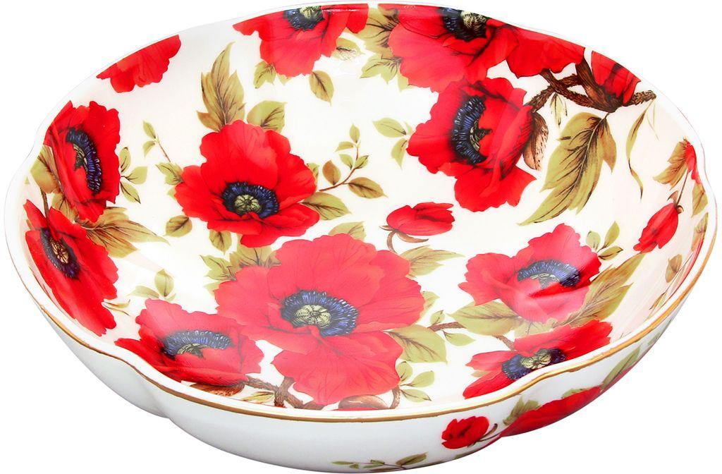 Конфетница-салатник Elan Gallery Маки, 1 л740053Красочная посуда подарит настроение и уют, привнесет разнообразие в приготовление ваших любимых блюд и сервировку семейного стола.