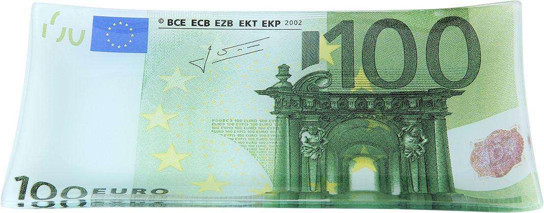 Тарелка Elan Gallery 100 евро, с подставкой, 19 х 10 х 1,5 см elan gallery шпажки для канапе с подставкой слон оранжевый