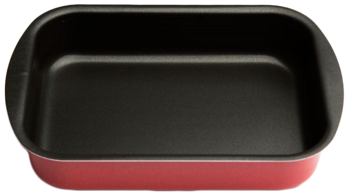 """Противень Helper """"Comfort"""", с антипригарным покрытием, цвет: темно-красный, 340 х 240 мм"""