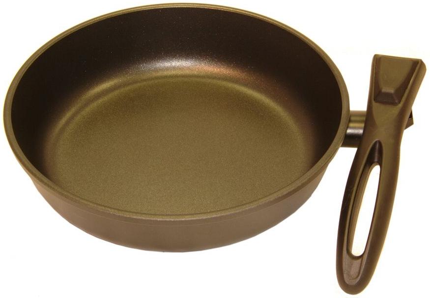 Сковорода Helper Gurman, со съемной ручкой, с антипригарным покрытием, цвет: черный. Диаметр 28 смGN4628Сковорода HELPER GURMAN выполнена из литого толстостенного алюминия , что позволяет равномерно распределять и прекрасно удерживать тепло, экономить электроэнергию и готовить пищу быстрее. Значительная толщина стенок и дна исключает деформацию корпуса изделий, гарантирует долговечность посуды. Снабжена антипригарным покрытием GREBLON C2+ . Изделие не содержит кадмия и свинца, а также вредной примеси PFOA, оно абсолютно экологично и безопасно для здоровья. Антипригарное покрытие обладает высокой прочностью, пища не пригорает и сохраняет полезные свойства. Изделие оснащено удобной, съемной бакелитовой ручкой. Подходит для газовых, электрических и стеклокерамических плит. Можно мыть в посудомоечной машине.