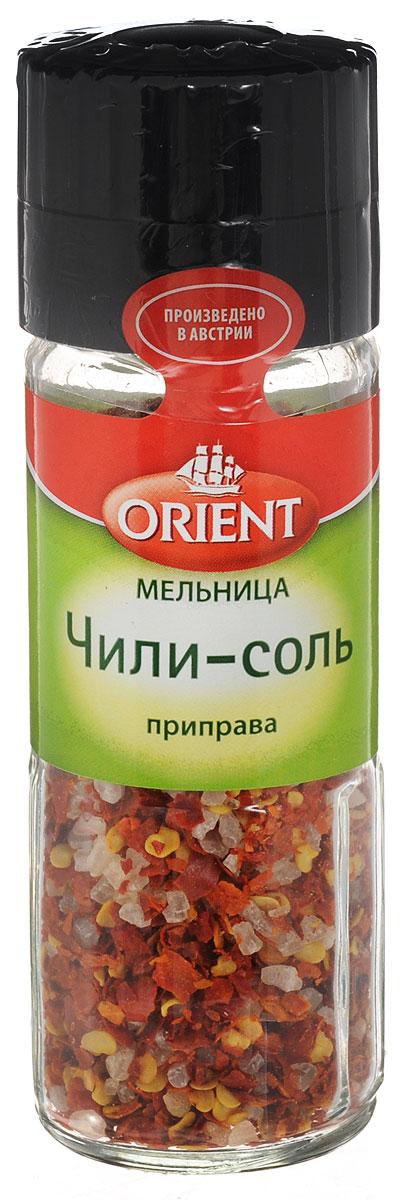 Orient Приправа Чили-соль, 48 г0120710Приправа Orient Чили-соль в ручной мельнице и с морской солью придаст восхитительный аромат вашим блюдам.