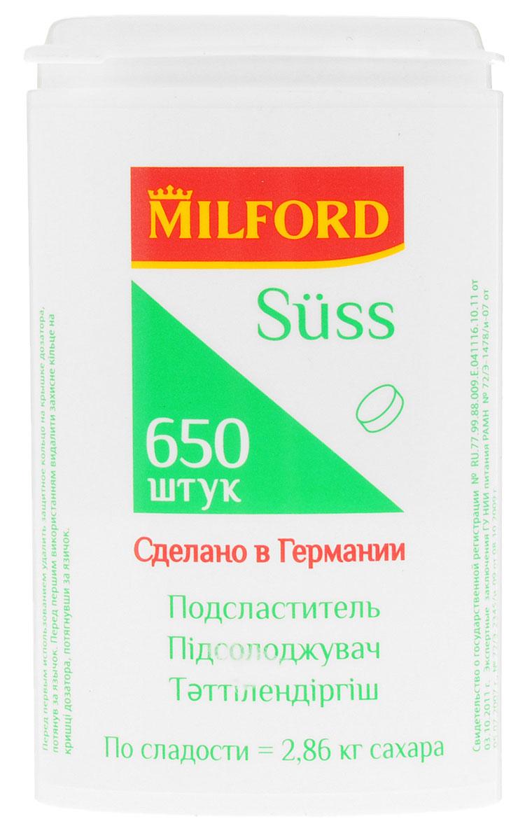 Milford Suss подсластитель, 650 штнаа101, наа102Сегодня подсластители Milford Suss - это лидеры рынка сахарозаменителей. Продукт производится в Германии при постоянном контроле качества. Все производственные процессы соответствуют предписаниям европейского законодательства и отвечают стандартам в области продуктов питания. Milford Suss - продукт с приятным вкусом, максимально приближенным ко вкусу сахара. Концентрация и сочетание подсластителей в таблетках подобрано таким образом, чтобы одна таблетка была такой же сладкой, как один кусочек сахара-рафинада или одна ложка сахарного песка. Уважаемые клиенты! Обращаем ваше внимание, что полный перечень состава продукта представлен на дополнительном изображении.