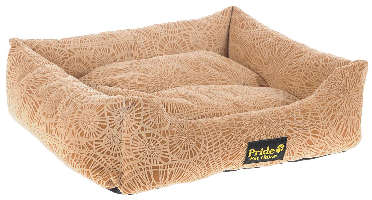 Лежак для животных Pride Фортуна, цвет: песочный, 52 х 41 х 10 см10012330Лежак Pride Фортуна прекрасно подойдет для отдыха вашего домашнего питомца. Предназначен для собак средних пород и кошек. Изделие выполнено из прочных материалов высшего качества. Лежак оснащен съемным матрасиком. Комфортный и уютный лежак обязательно понравится вашему питомцу, животное сможет там отдохнуть и выспаться.
