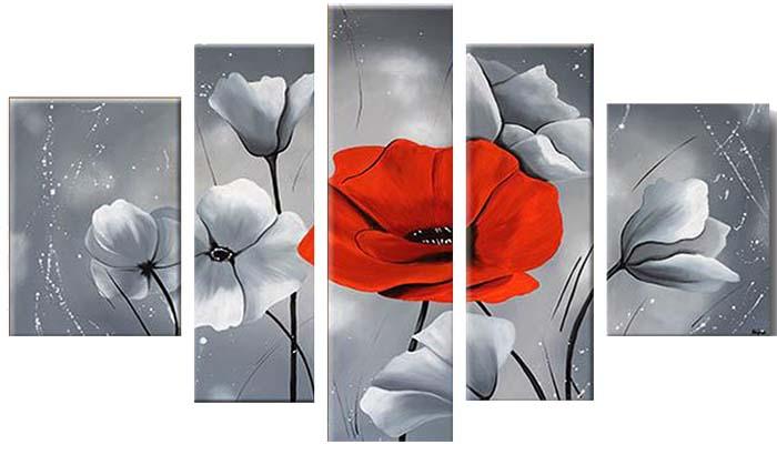 Картина Арт78 Красный мак, модульная, 180 х 120 см. арт780075арт780075Ничто так не облагораживает интерьер, как хорошая картина. Особенную атмосферу создаст крупное художественное полотно, размеры которого более метра. Подобные произведения искусства, выполненные в традиционной технике (холст, масляные краски), чрезвычайно капризны: требуют сложного ухода, регулярной реставрации, особого микроклимата – поэтому они просто не могут существовать в условиях обычной городской квартиры или загородного коттеджа, и требуют больших затрат. Данное полотно идеально приспособлено для создания изысканной обстановки именно у Вас. Это полотно создано с использованием как традиционных натуральных материалов (холст, подрамник - сосна), так и материалов нового поколения – краски, фактурный гель (придающий картине внешний вид масляной живописи, и защищающий ее от внешнего воздействия). Благодаря такой композиции, картина выглядит абсолютно естественно, и отличить ее от традиционной техники может только специалист. Но при этом изображение отлично...