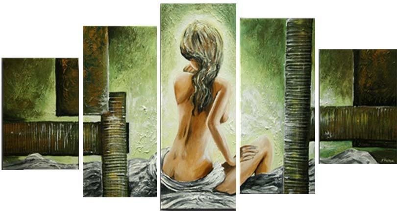Картина Арт78 Девушка, модульная, 200 х 120 см. арт780087арт780087Ничто так не облагораживает интерьер, как хорошая картина. Особенную атмосферу создаст крупное художественное полотно, размеры которого более метра. Подобные произведения искусства, выполненные в традиционной технике (холст, масляные краски), чрезвычайно капризны: требуют сложного ухода, регулярной реставрации, особого микроклимата – поэтому они просто не могут существовать в условиях обычной городской квартиры или загородного коттеджа, и требуют больших затрат. Данное полотно идеально приспособлено для создания изысканной обстановки именно у Вас. Это полотно создано с использованием как традиционных натуральных материалов (холст, подрамник - сосна), так и материалов нового поколения – краски, фактурный гель (придающий картине внешний вид масляной живописи, и защищающий ее от внешнего воздействия). Благодаря такой композиции, картина выглядит абсолютно естественно, и отличить ее от традиционной техники может только специалист. Но при этом изображение отлично...