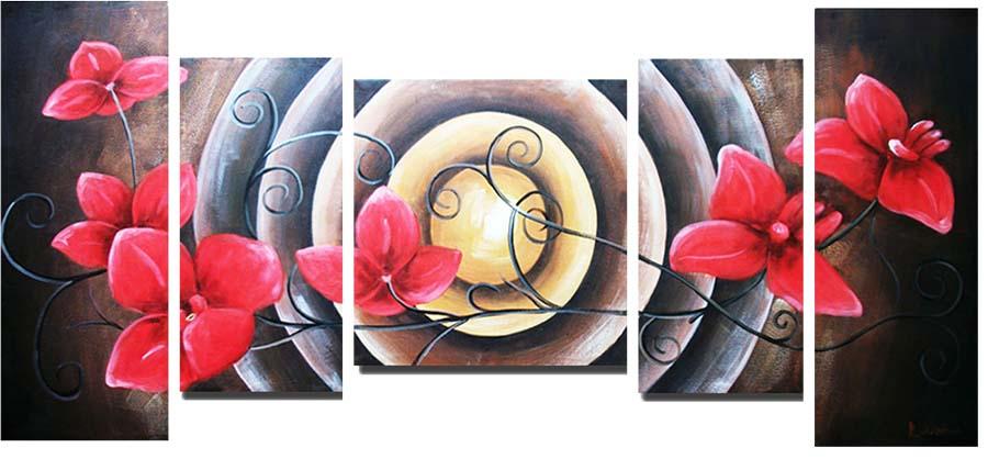 Картина Арт78 Красная орхидея, модульная, 200 х 120 см. арт780100арт780100Ничто так не облагораживает интерьер, как хорошая картина. Особенную атмосферу создаст крупное художественное полотно, размеры которого более метра. Подобные произведения искусства, выполненные в традиционной технике (холст, масляные краски), чрезвычайно капризны: требуют сложного ухода, регулярной реставрации, особого микроклимата – поэтому они просто не могут существовать в условиях обычной городской квартиры или загородного коттеджа, и требуют больших затрат. Данное полотно идеально приспособлено для создания изысканной обстановки именно у Вас. Это полотно создано с использованием как традиционных натуральных материалов (холст, подрамник - сосна), так и материалов нового поколения – краски, фактурный гель (придающий картине внешний вид масляной живописи, и защищающий ее от внешнего воздействия). Благодаря такой композиции, картина выглядит абсолютно естественно, и отличить ее от традиционной техники может только специалист. Но при этом изображение отлично...