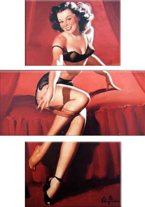Картина Арт78 Кокетка, модульная, 110 х 180 см. арт780104арт780104Ничто так не облагораживает интерьер, как хорошая картина. Особенную атмосферу создаст крупное художественное полотно, размеры которого более метра. Подобные произведения искусства, выполненные в традиционной технике (холст, масляные краски), чрезвычайно капризны: требуют сложного ухода, регулярной реставрации, особого микроклимата – поэтому они просто не могут существовать в условиях обычной городской квартиры или загородного коттеджа, и требуют больших затрат. Данное полотно идеально приспособлено для создания изысканной обстановки именно у Вас. Это полотно создано с использованием как традиционных натуральных материалов (холст, подрамник - сосна), так и материалов нового поколения – краски, фактурный гель (придающий картине внешний вид масляной живописи, и защищающий ее от внешнего воздействия). Благодаря такой композиции, картина выглядит абсолютно естественно, и отличить ее от традиционной техники может только специалист. Но при этом изображение отлично...