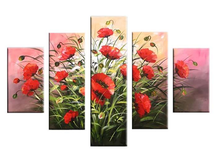 Картина Арт78 Маки, модульная, 140 х 80 см. арт780065-2арт780065-2Ничто так не облагораживает интерьер, как хорошая картина. Особенную атмосферу создаст крупное художественное полотно, размеры которого более метра. Подобные произведения искусства, выполненные в традиционной технике (холст, масляные краски), чрезвычайно капризны: требуют сложного ухода, регулярной реставрации, особого микроклимата – поэтому они просто не могут существовать в условиях обычной городской квартиры или загородного коттеджа, и требуют больших затрат. Данное полотно идеально приспособлено для создания изысканной обстановки именно у Вас. Это полотно создано с использованием как традиционных натуральных материалов (холст, подрамник - сосна), так и материалов нового поколения – краски, фактурный гель (придающий картине внешний вид масляной живописи, и защищающий ее от внешнего воздействия). Благодаря такой композиции, картина выглядит абсолютно естественно, и отличить ее от традиционной техники может только специалист. Но при этом изображение отлично...