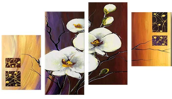 Картина Арт78 Орхидея, модульная, 135 х 90 см. арт780078-2арт780078-2Ничто так не облагораживает интерьер, как хорошая картина. Особенную атмосферу создаст крупное художественное полотно, размеры которого более метра. Подобные произведения искусства, выполненные в традиционной технике (холст, масляные краски), чрезвычайно капризны: требуют сложного ухода, регулярной реставрации, особого микроклимата – поэтому они просто не могут существовать в условиях обычной городской квартиры или загородного коттеджа, и требуют больших затрат. Данное полотно идеально приспособлено для создания изысканной обстановки именно у Вас. Это полотно создано с использованием как традиционных натуральных материалов (холст, подрамник - сосна), так и материалов нового поколения – краски, фактурный гель (придающий картине внешний вид масляной живописи, и защищающий ее от внешнего воздействия). Благодаря такой композиции, картина выглядит абсолютно естественно, и отличить ее от традиционной техники может только специалист. Но при этом изображение отлично...