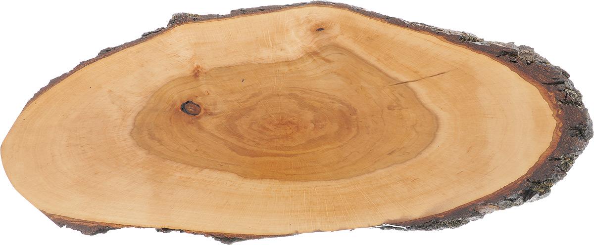 Доска сервировочная Kesper, 59 х 23 х 2 см6120-2Доска сервировочная Kesper выполнена из натурального, экологически чистого материала (ольха) в виде среза дерева. Специальная обработка обеспечивает прочность и долгий срок службы. Изделие имеет нестандартную форму, обладает высокими антибактериальными свойствами, имеет приятный древесный аромат. Доска идеально подойдет для красивой подачи ваших кулинарных шедевров. Ее размер и форма позволяют подавать мясные блюда, нарезки, холодные или горячие закуски, идеальный вариант для суши. Эта доска станет настоящим украшением и изюминкой вашей кухни. Не рекомендуется мыть в посудомоечной машине.