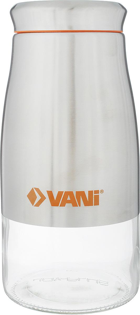 Банка для сыпучих продуктов VANI, 1,7 лV9003Банка для хранения сыпучих продуктов VANI станет незаменимым аксессуаром на любой кухне. Она предназначена для компактного хранения сыпучих продуктов, что позволяет экономить место на полке. Ее корпус изготовлен из экологически чистого стекла и высококачественной нержавеющий стали, что обеспечивает длительный срок для эксплуатации изделия. Кроме того, прозрачные стенки данной модели позволяет вам контролировать остаток содержимого в банке. Для наилучшей сохранности продуктов крышка освещена пластиковым уплотнителем. Объем емкости: 1,7 л. Размер: 24 х 11 х 11 см.