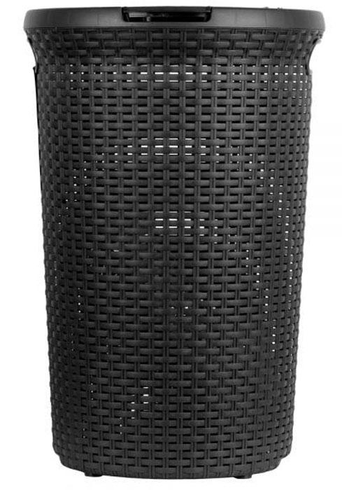 Корзина для белья Curver Style, цвет: темно-коричневый, 48 л00710-210Практичная корзина для белья Curver Style это идеальный выбор для тех, кто ценит эстетику и комфорт. Изделие выполнено из прочного пластика. Привлекательный внешний вид, стилизованный под ротанг, позволяет создать интерьер помещения в соответствии с последними тенденциями. Перфорация обеспечивает циркуляцию воздуха. Благодаря трем ручкам корзина удобна для переноски.