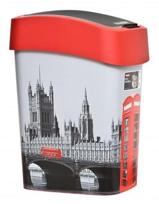 Контейнер для мусора Curver Deco Flip Bins London, 25 л02171-L11Мусорный контейнер Curver Deco Flip Bins London, выполненный из прочного пластика, не боится ударов и долгих лет использования. Изделие украшено изображением достопримечательностей Лондона и оснащено плавающей крышкой, с помощью которой его легко использовать. Крышка плотно прилегает, предотвращая распространение запаха. Вы можете использовать такой контейнер для выбрасывания разных пищевых и не пищевых отходов. Контейнер может пригодиться также в ванной комнате или у туалетного столика.