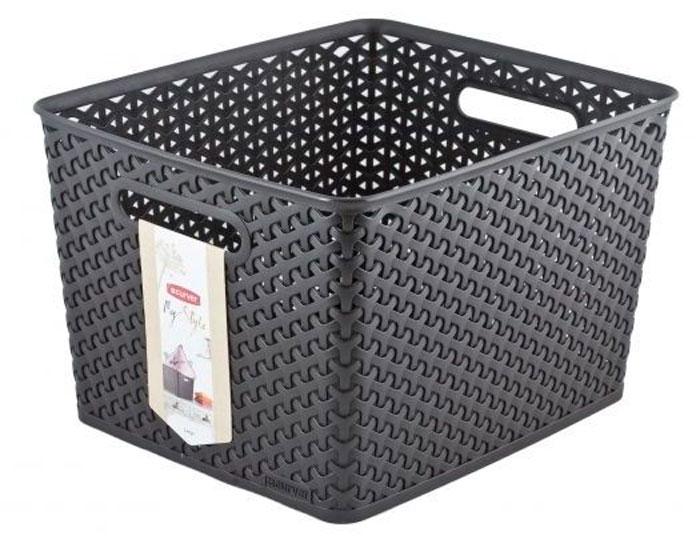 Коробка для хранения Curver My Style, цвет: темно-коричневый03612-210-00Коробка для хранения Curver My Style, цвет: темно-коричневый