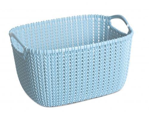 Корзина универсальная Curver Knit, цвет: морская волна, 19 лUP210DFУниверсальная корзина Curver Knit изготовлена из высококачественного пластика и декоративной перфорацией под плетение. Для дополнительного удобства корзина имеет удобные ручки. Такая корзина непременно пригодится в быту, в ней можно хранить кухонные принадлежности, специи, аксессуары для ванной и другие бытовые предметы.