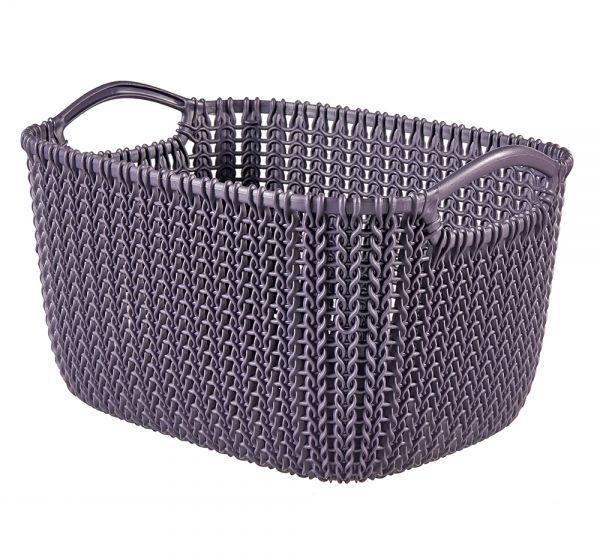 Корзина универсальная Curver Knit, цвет: фиолетовый, 19 л03670-X66-00Универсальная корзина Curver Knit изготовлена из высококачественного пластика и декоративной перфорацией под плетение. Для дополнительного удобства корзина имеет удобные ручки. Такая корзина непременно пригодится в быту, в ней можно хранить кухонные принадлежности, специи, аксессуары для ванной и другие бытовые предметы.